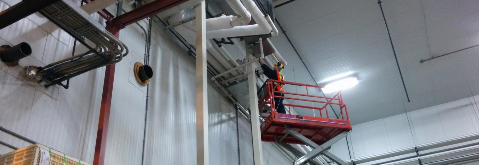 Commissioning existing refrigeration plants involves inspecting a lot of equipment